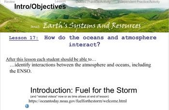 Environmental Science Unit 1 Lesson 7: ENSO & Historic Hurricanes