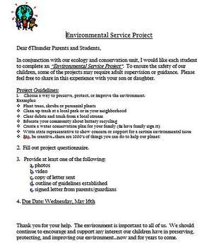 Environmental Service Project