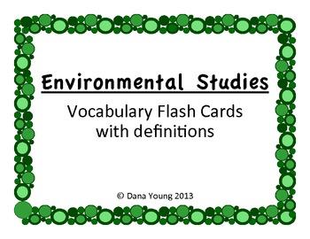 Environmental Studies::Vocabulary Flash Cards