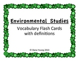 Environmental Studies::Vocabulary Flash Cards