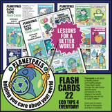 Earth Day Ecology Tips FLASH CARDS 22 Cartoons Science Les