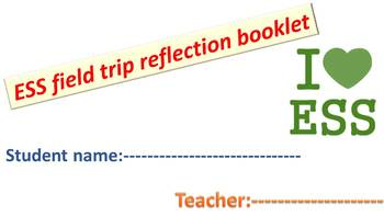 Environmental systems and societies - filed trip reflection booklet