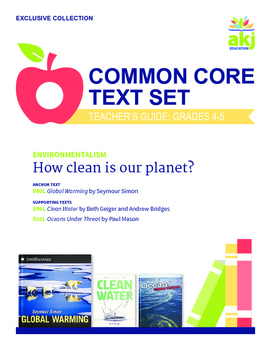 Environmentalism Common Core Text Set
