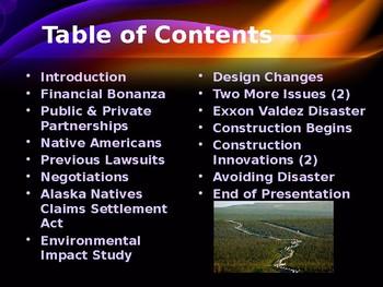 Environmentalism - The Trans Alaska Pipeline