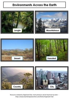 Environments Across the Earth