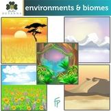 Environments And Biomes Clip Art