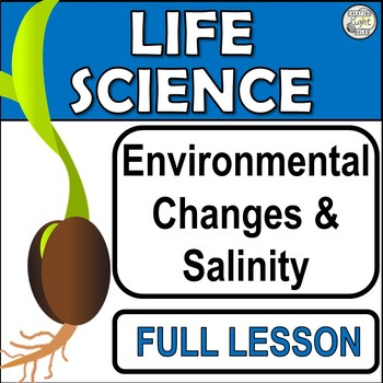 Environmental Changes and Salinity. Full Lesson and Science Experiment Template.