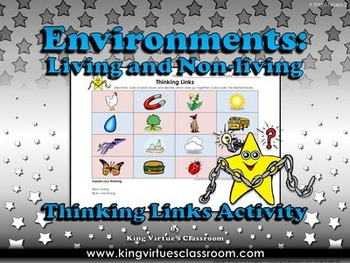 Environments: Living and Non-living Thinking Links Activity #3 - Pictures