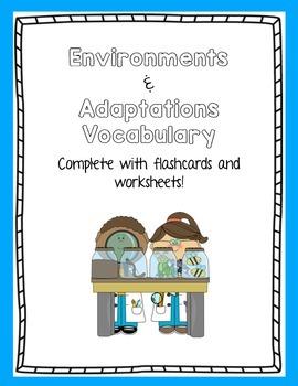 Environments and Adaptations Vocabulary