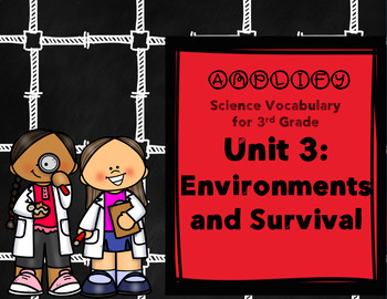 Environments and Survival Amplify Science 3rd Grade Unit 3 Focus Wall