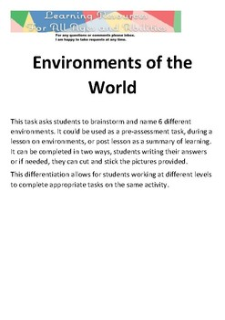 Environments of the World