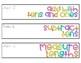 enVisionmath2.0 1st Grade Sterilite Labels