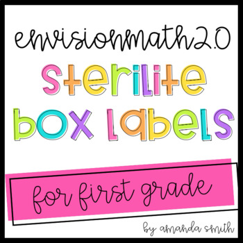 enVision Math 2.0 Sterilite Labels 1st Grade