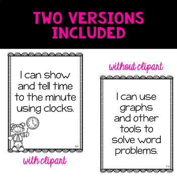 Envision 2.0 Essential Questions & I Can Statements 3rd Grade BUNDLE