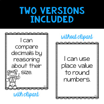 Envision 2.0 Essential Questions & I Can Statements 4th Grade BUNDLE