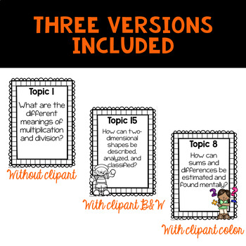 Envision 2.0 Essential Questions & We Will Statements 3rd Grade BUNDLE
