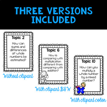 Envision 2.0 Essential Questions & We Will Statements 4th Grade BUNDLE