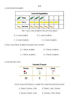 Envision 2.0 Math: First Grade: Topic 6: Quick Check