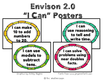 enVision 2.0 I Can Objective Posters
