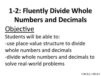 Envision 2.0 Math - 6TH GRADE - Objective Posters/Lesson Summaries