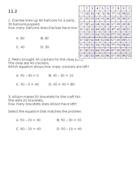 Envision 2.0 Math: First Grade: Topic 11: Quick Check