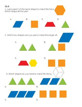 Envision 2.0 Math: First Grade: Topic 14: Quick Check
