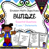 Envision 2.0 Essential Questions & I Can Statements 2nd Grade Objective BUNDLE
