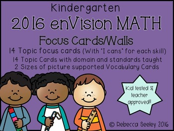 Envision 2016 Kindergarten- Focus Walls and Vocabulary Cards