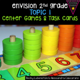 Envision Math 2.0 2nd Grade - Topic 1 Center Games & Task Cards Bundle