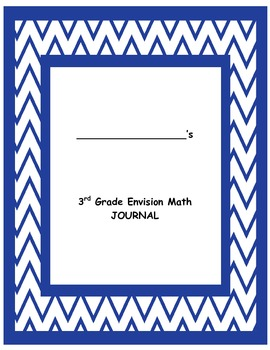 Envision 3rd Grade Math Journal for Common Core Integration