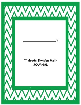 Envision 4th Grade Math Journal for Common Core Integration
