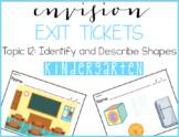 Envision Exit Tickets: Kindergarten | Topic 12 | Identify and Describe Shapes