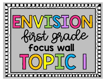 Envision First Grade Topic 1 Focus Wall