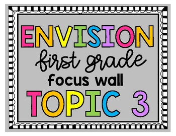 Envision First Grade Topic 3 Focus Wall