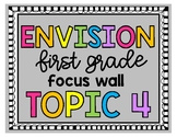 Envision First Grade Topic 4 Focus Wall