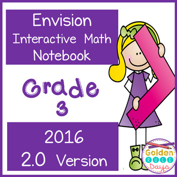 Envision Gr 3 Interactive Notebook 2016 Realize 2.0 Version - A Growing Bundle!