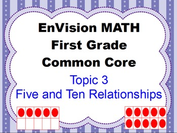 Envision Grade 1 Topic 3 Five and Ten Relationships for Sm