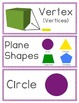 Vocabulary Cards for 2nd Grade Envision Math Topic 12