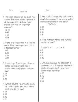 Envision Grade 3 Topic 6
