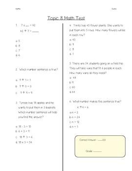 Envision Grade 3 Topic 8