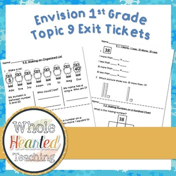 Envision Math 1st Grade Topic 10