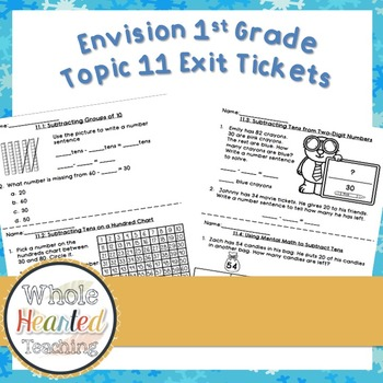 Envision Math 1st Grade Topic 11