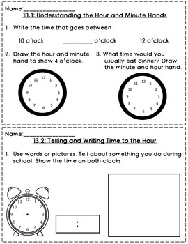 Envision Math 1st Grade Topic 13