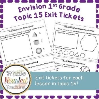 Envision Math 1st Grade Topic 15