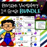 Envision Math 2.0 1st Grade Vocabulary BUNDLE