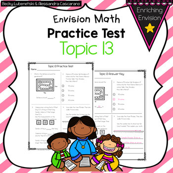 Envision Math 2.0 2nd Grade Topic 13 Review Practice Test