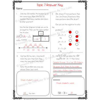Envision Math 2.0 2nd Grade Topic 7 Review Practice Test