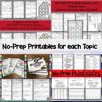 Envision Math 2.0 2nd Grade Topics 5-8 BUNDLE