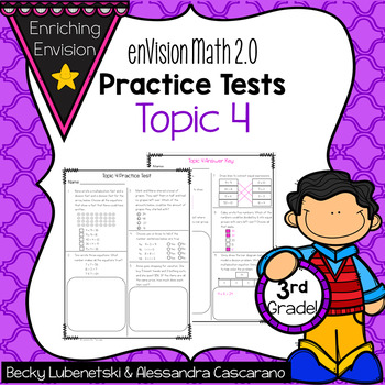 Envision Math 2 0 3rd Grade Topic 4 Review Practice Test