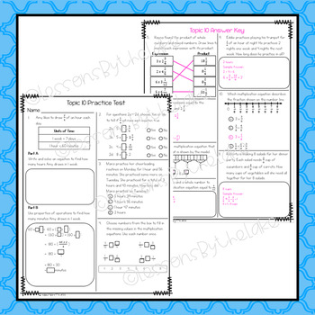 Envision Math 2.0 4th Grade Topic 10 Review Practice Test